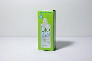 Biotrue linsevæske produktbilde med hvit bakgrunn.